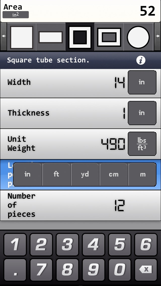 Metals and materials weight calculator app insight for Material calculator for house