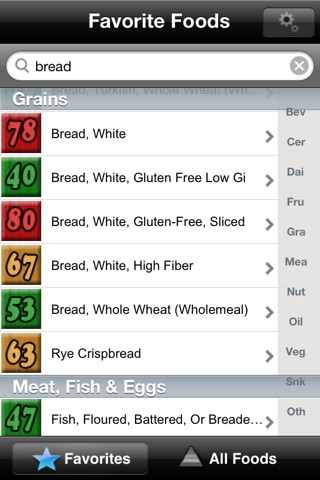 A Low GI Diet - Glycemic Index Search screenshot 1