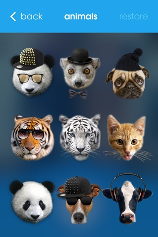 Meow - Animal Face Photo Editor Booth with Funny Animal Head Stickers like Panda, Tiger, Cow, Cats and Dogs screenshot 3
