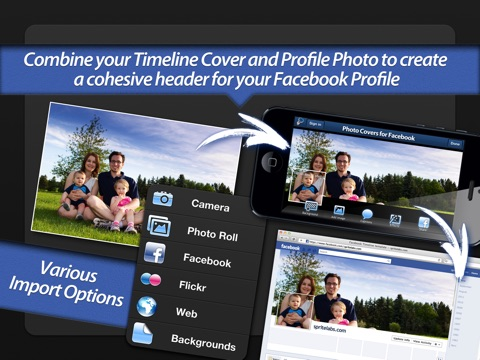 Screenshot #1 for Photo Covers for Facebook LITE: Timeline Editor