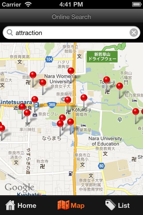 Nara Travel Map Japan by Lingling Pan
