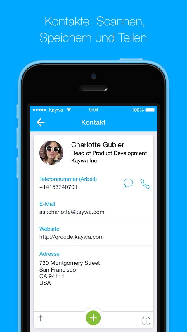 Screenshot von Der QR Code Reader von Kaywa - SCANNEN UND BROWSEN4
