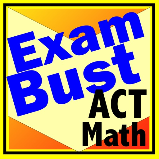 ACT Math Prep Flashcards Exambusters iOS App
