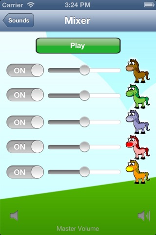 Horse Sounds for Girls: Hear and learn the animal sound of pony and horses! screenshot 1