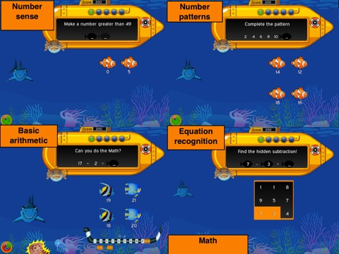 Murky Reef : 1st - 2nd Grade Reading, Science & Math screenshot 4