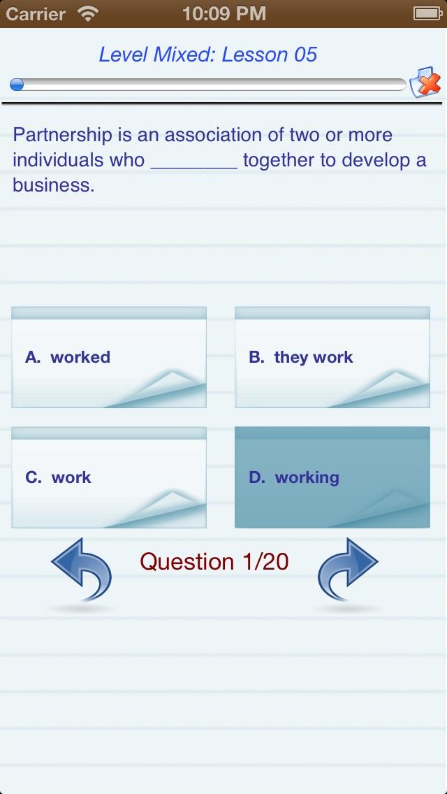 Test English (Level A,B,C) Скриншоты5