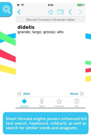 Italian <-> Lithuanian Slovoed Compact talking dictionary screenshot 1