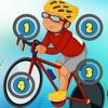 主動! 遊戲兒童學習計數,以1-10與自行車