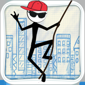 Stick-man Swing Adventure: Tight Rope And Fly icon