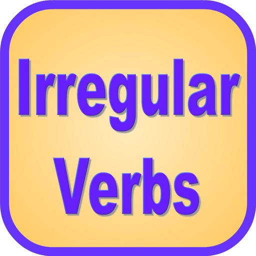 English Irregular Verbs - Language Art Vocabulary Grammar app