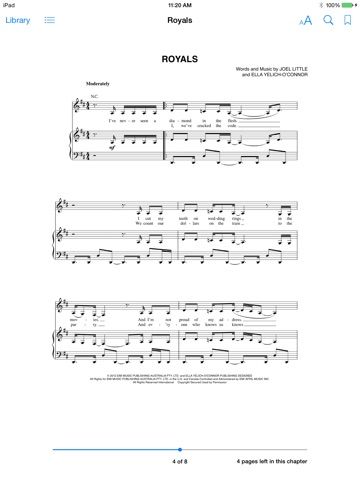 Royals Sheet Music By Lorde On Ibooks
