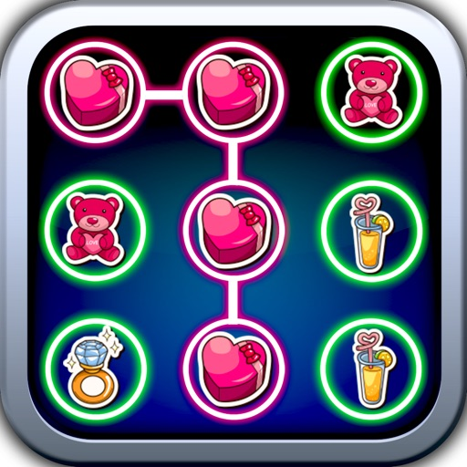 Your Valentine Dots matching game saga:Connect your valentine stickers iOS App