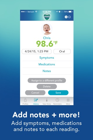 Vicks SmartTemp Thermometer screenshot 3