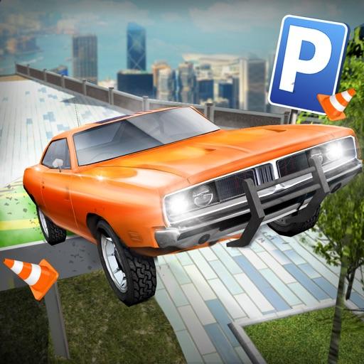 roof jumping 3 stunt driver parking simulator gratuit jeux de voiture de course par aidem media. Black Bedroom Furniture Sets. Home Design Ideas
