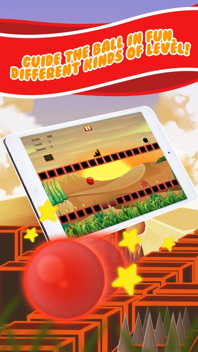 Bouncy Red Ball Fast Wipeout Pro Screenshot on iOS