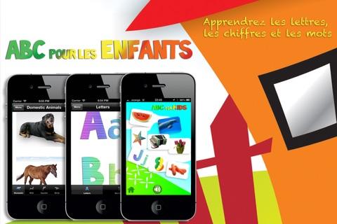 ABC pour les Enfants: Apprenez le Français - Les Lettres, Chiffres et Mots avec des Animaux, Formes, Couleurs, Fruits et Légumes screenshot 1