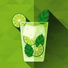 Bebida alcoólica. Bebidas mistas e coquetéis receitas com whisky, rum, vodka, gin, tequila.