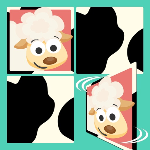 Free Play with Farm Animals Cartoon Memo Game for toddlers and preschoolers iOS App
