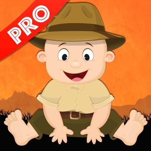 Milo's Safari cartoon for Tots iOS App