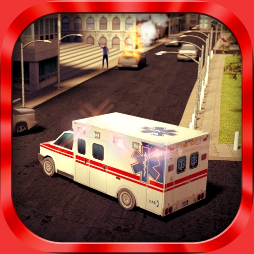 Ambulance Simulator 3D - Patients emergency rescue and hospital delivery sim - Test real car driving, parking and racing skills iOS App
