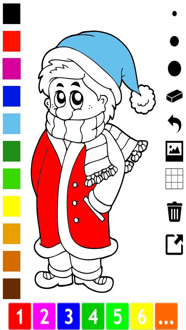 Screenshot of Attivo! Coloring Book Dell'inverno Per i Bambini Per Imparare a Dipingere un Quadro1