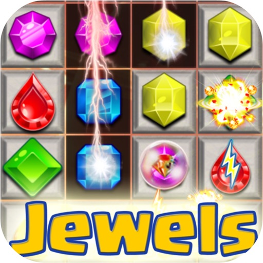 Jewels Crazy Mania HD iOS App
