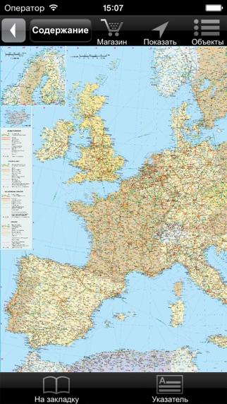 Европа. Политико-автодорожная картаСкриншоты 1