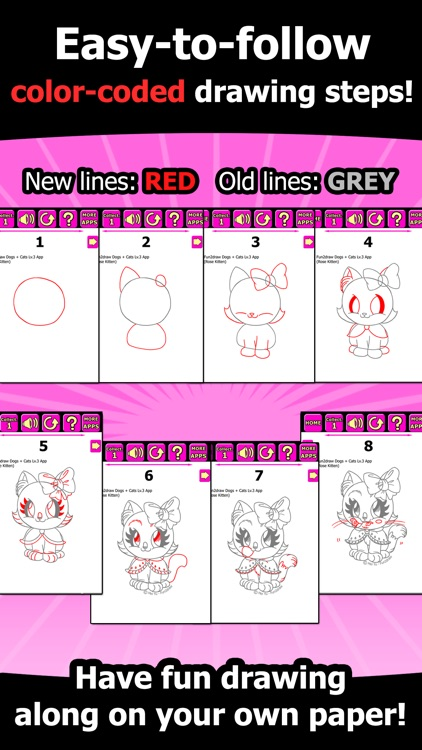 Draw and color cats dogs how to draw cute dogs cats cartoon draw and color cats dogs how to draw cute dogs cats cartoon kitty puppy fun pets fun2draw dogs and cats lv3 by mei yu art inc ccuart Images