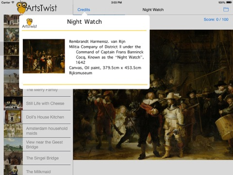 ArtsTwist Find It Rijksmuseum screenshot 2