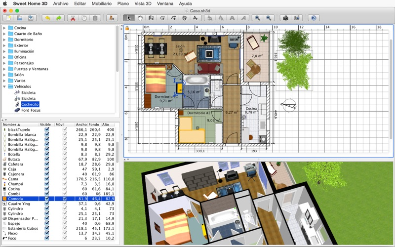 Sweet home 3d en mac app store - Bibliotheque meuble sweet home d gratuit ...
