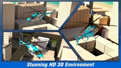 市ヘリコプターフライングシミュレーター - アーバンランド上空を飛ぶ航空ヘリコプターのスクリーンショット2