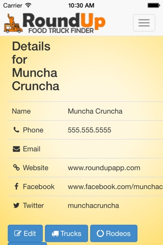 RoundUp Food Truck Owner screenshot 3