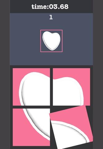 Rotate Heart Cookie Puzzle screenshot 2