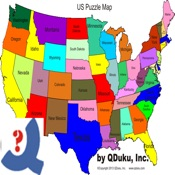US Puzzle Map Game On The App Store - Map game us
