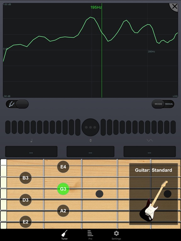 п-Track-тюнер бесплатно: настроить гитару, бас, ук Screenshot