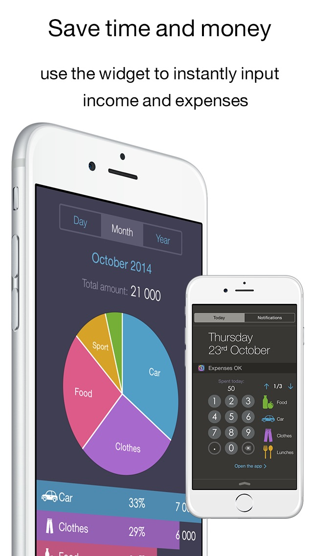 Income OK - the excellent income and expense tracker (its handy widget save your time,money and finance) Screenshot