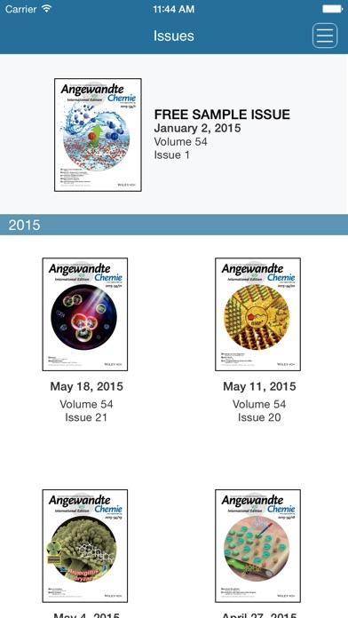 Angewandte Chemie International Edition review screenshots