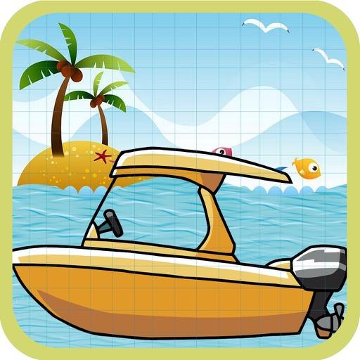 卡通船赛车游戏 街机游戏2015年 .