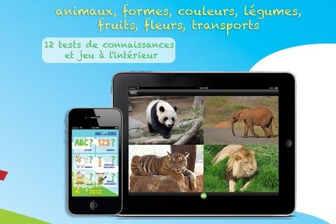 ABC pour les Enfants: Apprenez le Français - Les Lettres, Chiffres et Mots avec des Animaux, Formes, Couleurs, Fruits et Légumes screenshot 3
