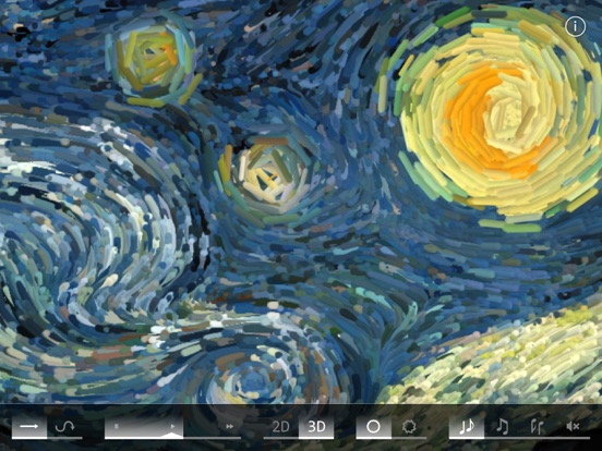 Screenshot #4 for Starry Night Interactive Animation
