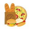 貼紙誘人食慾的麵包