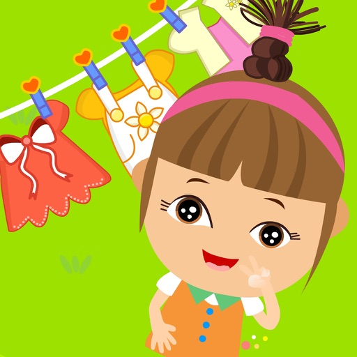 Amy Clothes Washing Dresses,Laundry games iOS App