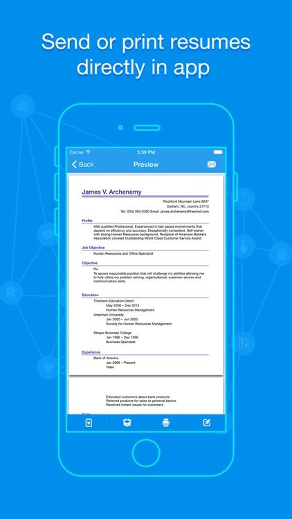 Quick Resume - Resumes Builder and Designer by LINKLINKS LTD