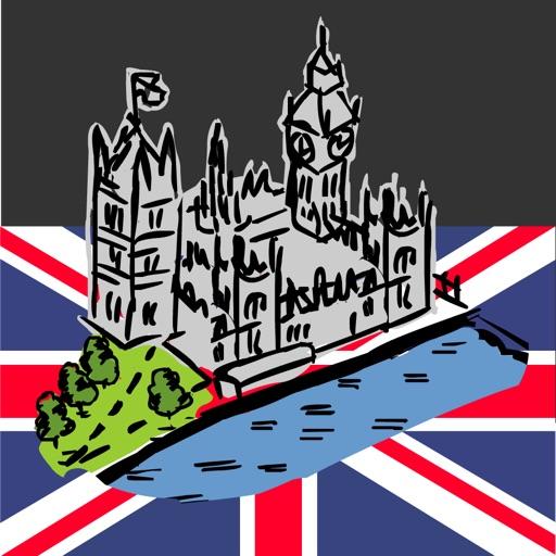 伦敦手绘地图:London Map Guide