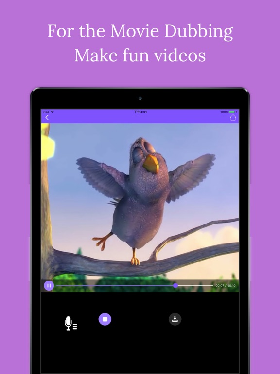 Screenshot #1 for Fun dubbing - make video with your own voice