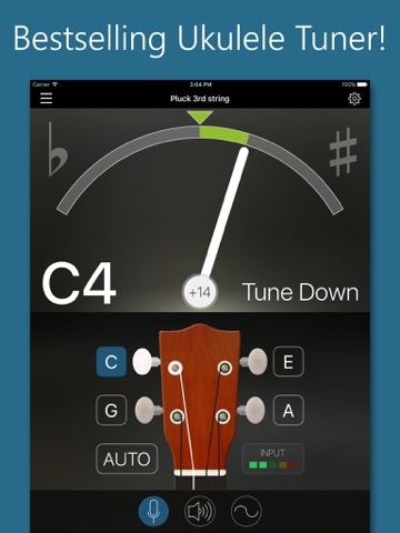 Precision Ukulele Tuner - with Chords & Metronome screenshot 1