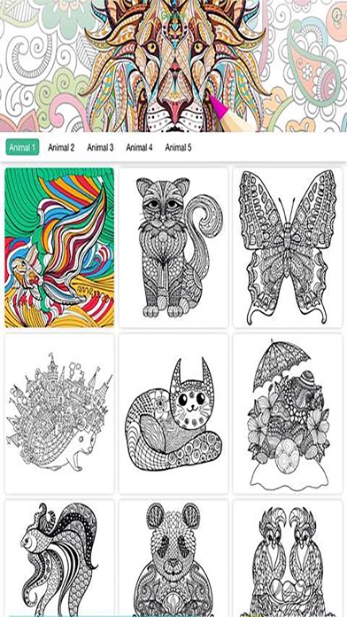 Recolor Coloring Book Pigment For Adults On The App Store