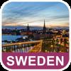Sverige Offline vektorkarta - PLACE STARS