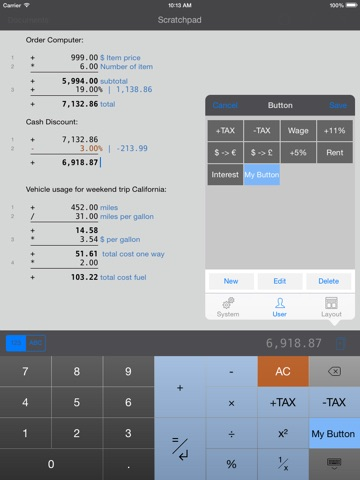 CalcTape Paper Tape Calculator screenshot 2