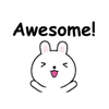Lovely White Rabbit Sticker set 2